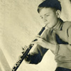 Playing the oboe aged 12